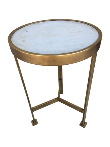 Lucca Limited Edition marble and brass side table. 33662