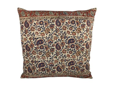 Vintage Persian Print Textile Pillow 32734