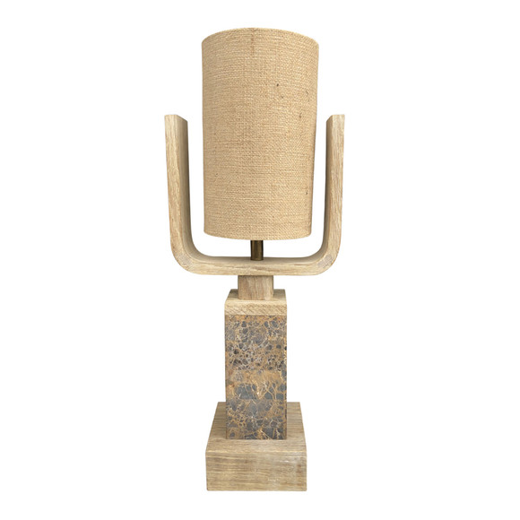 Limited Edition Oak and Stone Lamp 35675