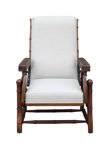 Single 19th Century Faux Bamboo Armchair 31466
