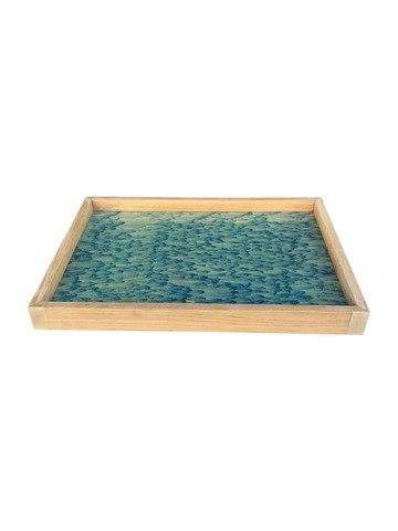 Limited Edition Oak Tray With Vintage Marbleized Paper 34055