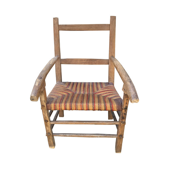 Single French Primitive Armchair 34479