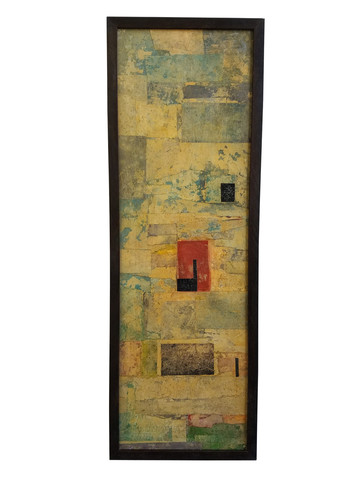 French Mid Century Mixed Media Collage 35930