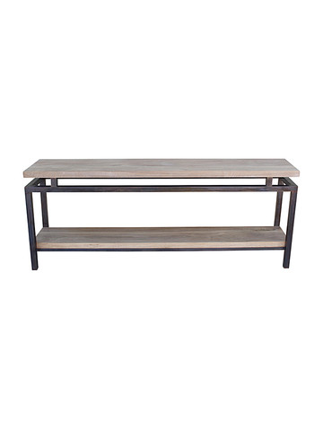 Limited Edition Iron and Oak Console 28456