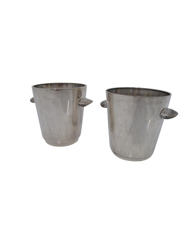 Pair of Danish Silver Plate Champagne Buckets 31423