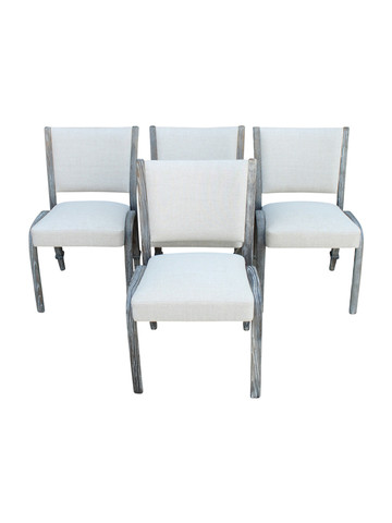 Set of (4) French Mid Century Chairs 31390