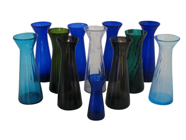 Set of (12) 19th Century Hyacinth  Vases 31527