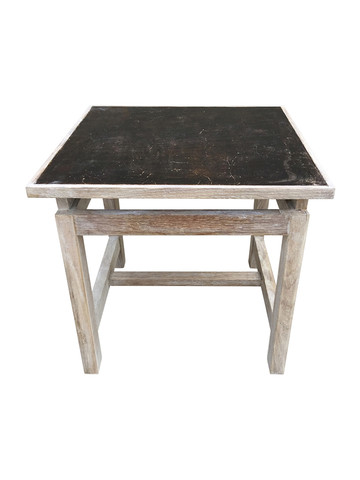 Limited Edition Oak and Industrial Element Side Table 33332