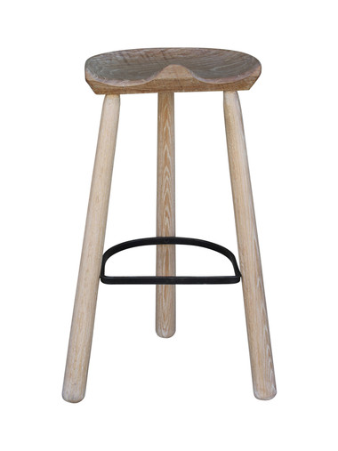 Single Oak Stool 25079