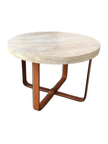 Limited Edition Side Table with Leather Base 35864