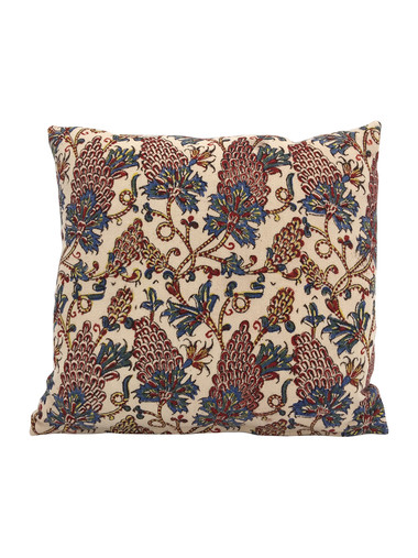 19th Century Persian Wood Block Textile Pillow 34404