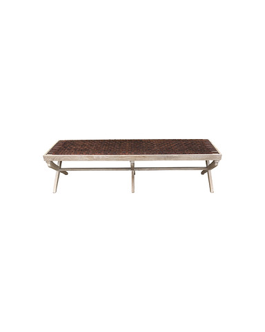 Sadie Bench (Brown Leather) 29553