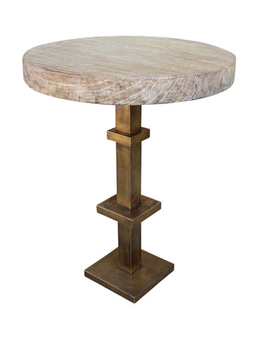 Limted Edition Bronze and Oak Side Table 29461