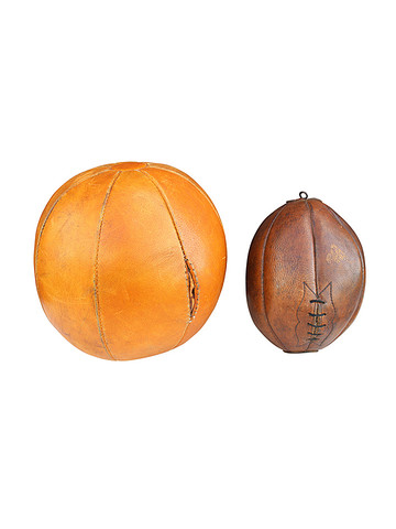 Belgian Vintage Leather Boxing & Medicine Ball 31883