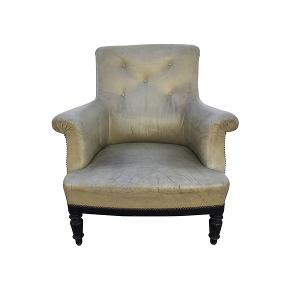 Single French Leather Armchair 32304