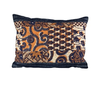 Vintage Indonesian Batik Textile Pillow 19504