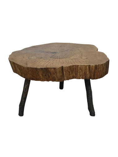 French Burl Wood Side Table 37251