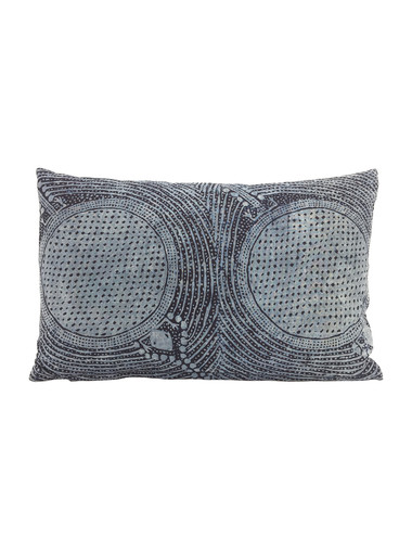 Limited Edition Indonesian Indigo Batik Textile Pillow 34179