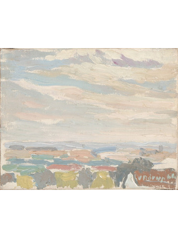 Danish Watercolor Landscape 34703