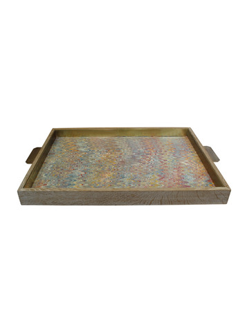 Lucca Limited Edition Oak and Bronze Tray 22611