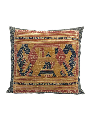 Limited Edition Antique Tribal Embroidery Pillow 34966
