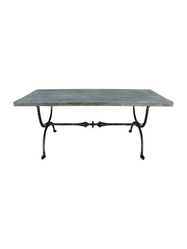 French Iron Base Coffee Table 32161