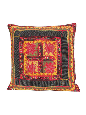 19th Century Embroidered Textile Pillow 20498