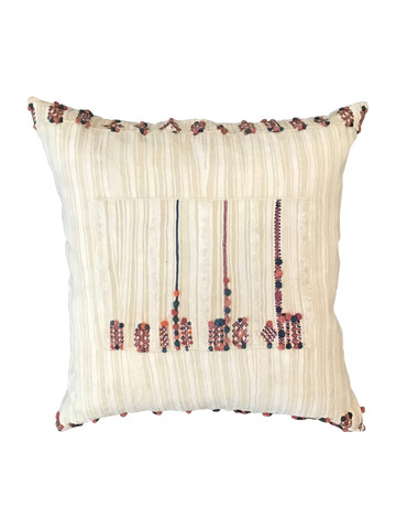 Antique Moroccan Tribal Textile Pillow 35693