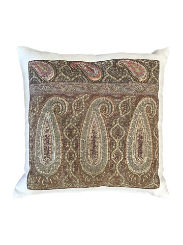 Exceptional 18th Century Embroidery Textile Pillow 38423