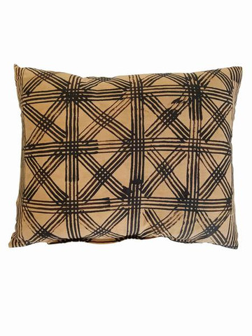 Vintage Indonesian Batik Textile Pillow 35502