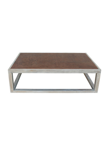 Limited Edition Oak and Leather Top Coffee Table 30490