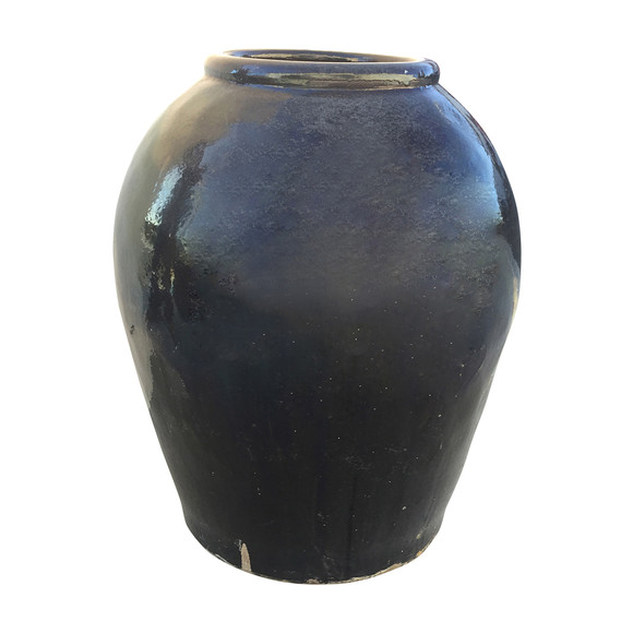 Large Black Glazed Ceramic Vessel from Central Asia 34726
