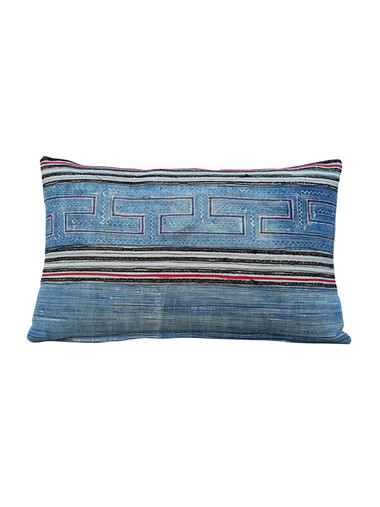Antique Central Asia Indigo Pillow 28951