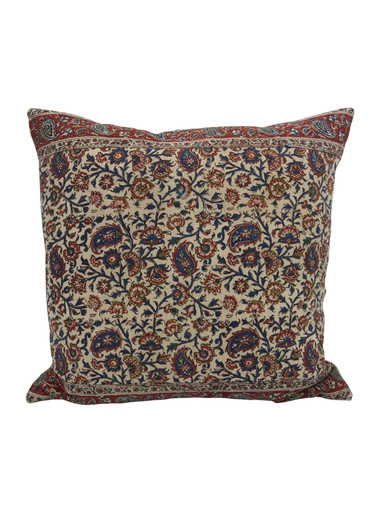 Vintage Persian Print Textile Pillow 34192