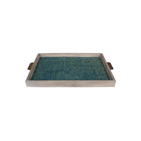 Limited Edition Oak Tray with Vintage Italian Marbleized Paper 25730