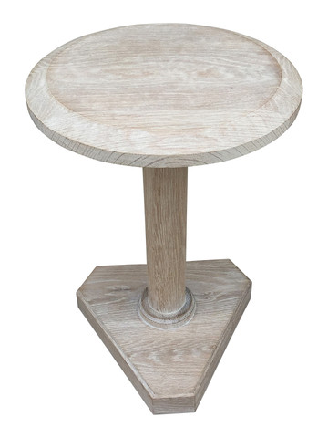 Lucca Studio Bikar Cerused Oak Side Table 33617