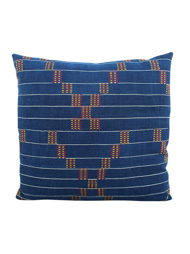 19th Century African Indigo Textile Pillow 28466