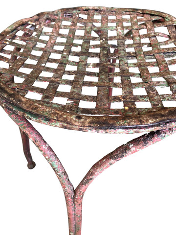 French Iron Stool 35396